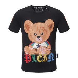 new philipp plein hommes t-shirt teddy print rainbow